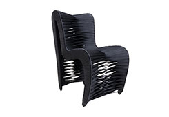 High Quality Seat Belt Dining Chair / Black