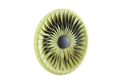 Seat Belt Round Wall Tile / Green