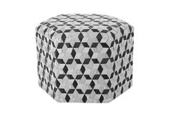 Seat Belt Pouffe MD / Black/Grey