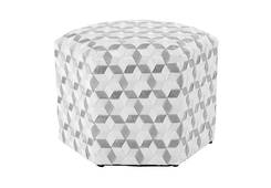 Seat Belt Pouffe MD / White/Grey