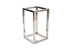 Square End Table Base / Stainless Steel, Base Only