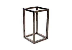 Square End Table Base / Plated Black Nickel, Base Only