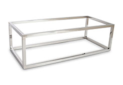 Coffee Table Base / Rectangle, Stainless Steel, Base Only