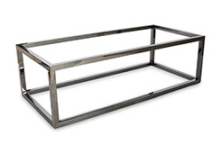Coffee Table Base / Rectangle, Plated Black Nickel, Base Only