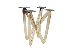 Butterfly End Table Base / Plated Brass Finish, Base Only