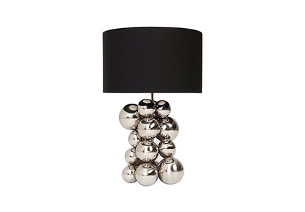 Frizzante Table Lamp, Mirror Polished Stainless Steel