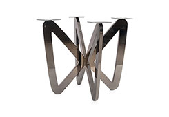Butterfly Dining Table Base / Plated Black Nickel, w/ PC Top