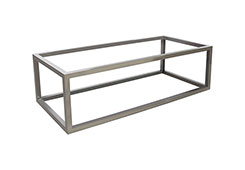 Coffee Table Base / Rectangle, Plated Black Nickel, w/ PC Top