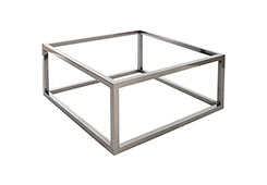 Coffee Table Base / Square, Plated Black Nickel, w/ PC Top
