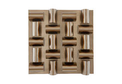 Arete Wall Tile / Plated Brass Finish