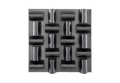 Arete Wall Tile / Plated Black Nickel