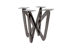 Butterfly End Table Base / Plated Black Nickel, w/ PC Top