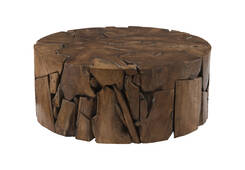 Teak Slice Coffee Table / Round