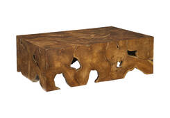 Teak Slice Coffee Table / Rectangle