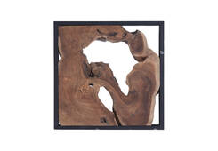 Framed Teak Wall Tile