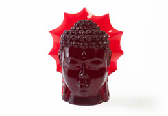 Ruby Buddha Head