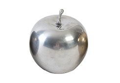 Mini Metallic Apple / Silver