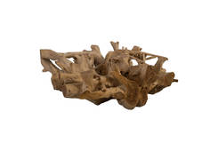 Teak Wood Coffee Table / Bleached, Round