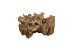 Teak Wood Coffee Table / Bleached, Square