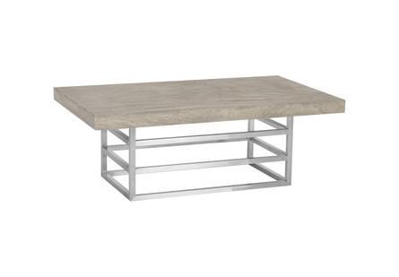 Ladder Coffee Table Suar Wood Grey Silver Finish