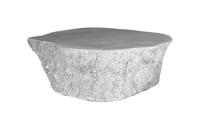 bark coffee table / silver leaf - ph63166