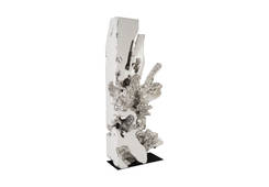 Freeform Sculpture / White, Silver Leaf