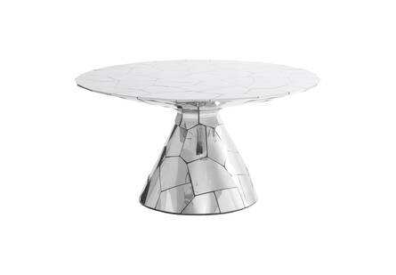 Crazycut Dining Table, Mirror Polished Stainless Steel