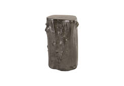 Log Stool / Liquid Silver, SM