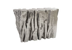 Freeform Console Table / Silver Leaf