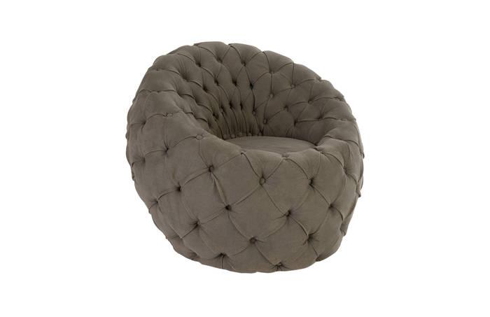 Egg Chair Ramie Grey