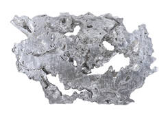 Burled Root Wall Art / Silver Leaf, LG