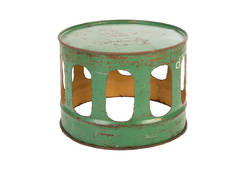 Oil Drum Lath Stool