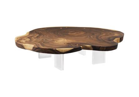 Floating Chamcha Wood Coffee Table Acrylic Legs Sizes Vary