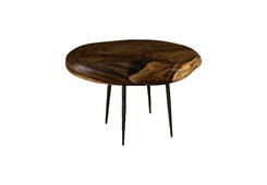 Skipping Stone Side Table / Forged Legs