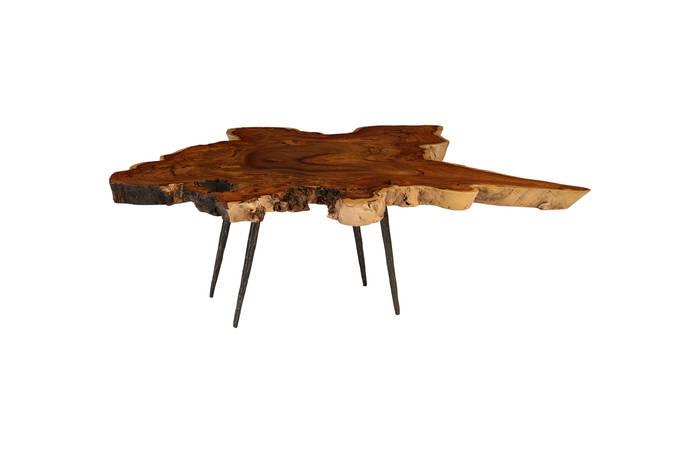 makha burl wood coffee table - th81085