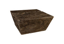 Chamcha Wood Coffee Table / Square, Grey Stone