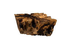 Chamcha Wood Coffee Table / Grey Stone, Square