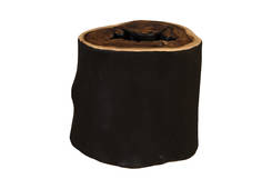 Chamcha Wood Stool / Lathe Edge, Burnt Edge