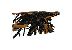 Teak Root Console Table / Burnt