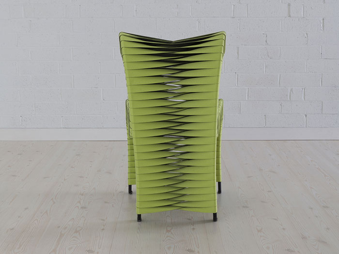 Seat Belt Dining Chair Green