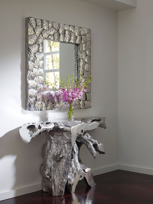Brivo Freeform Console Table Silver Leaf Ph64352