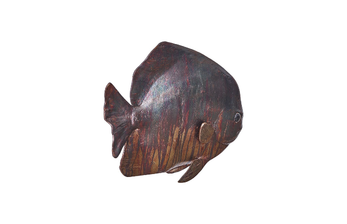 Wall Sculpture Resin Copper Patina Finish