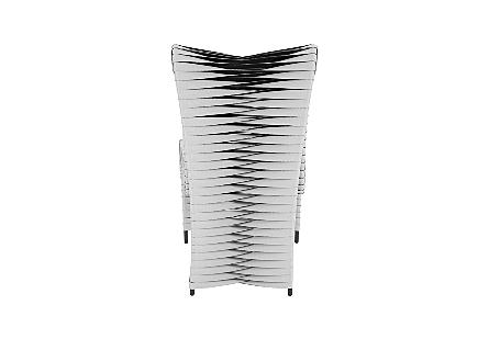 Seat Belt Dining Chair High Back Grey/Black
