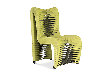 Seat Belt Dining Chair High Back, Green/Black