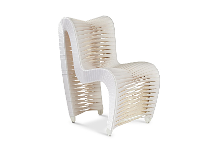 Seat Belt Dining Chair White