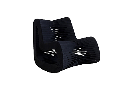 Seat Belt Rocking Chair Black/Black