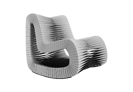 Seat Belt Rocking Chair Gray/Black
