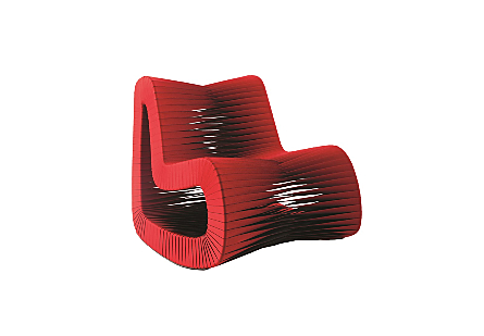 Seat Belt Rocking Chair Red