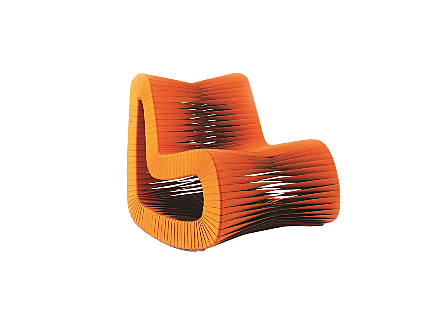 Seat Belt Rocking Chair Orange