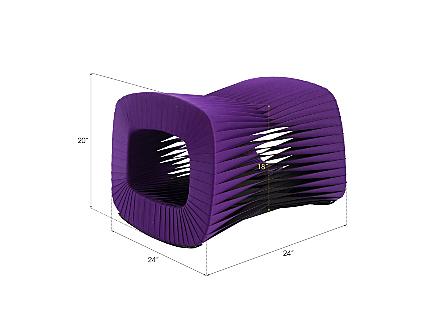 Seat Belt Ottoman Purple